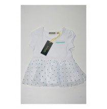 131290 Pauze baby girls dress Combo 2 optical white (4 pcs)