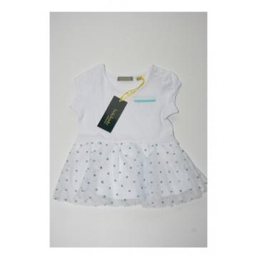Pauze baby girls dress Combo 2 optical white (4 pcs)