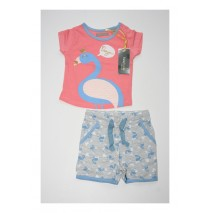 131292 Pauze baby girls set shirt+short combo 2 conch shell (4 pcs)
