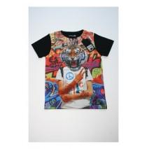 Digital wave teen boys shirt Combo 2 black (6 pcs)