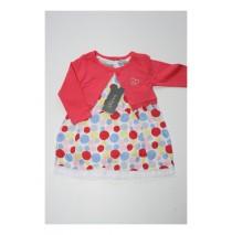 131334 Baby girls set dress+bolero combo 2 red clarinet (4 pcs)