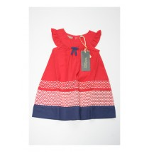 131418 Baby girls dress combo 2 racing red (4 pcs)