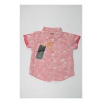 Deals - Baby boys blouse combo 3 deep sea coral (4 pcs)