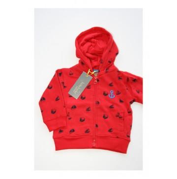 Baby boys cardigan sweater racing red (4 pcs)