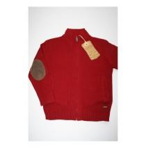 Teen boys cardigan burnt red (4 pcs)