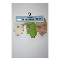 Adventure babyboy sneakersocks green (5 sets of 3 pcs)
