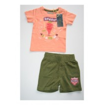 Harmony set shirt + short soft apricot (4 pcs)