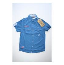 Teen boys blouse denim blue (4 pcs)