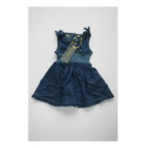 Baby girls dress dark denim blue (4 pcs)