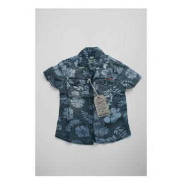 Small boys shirt light blue denim (4 pcs)