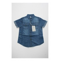 Deals - Soft Fiction shirt Combo 2 medium blue denim (4 pcs)