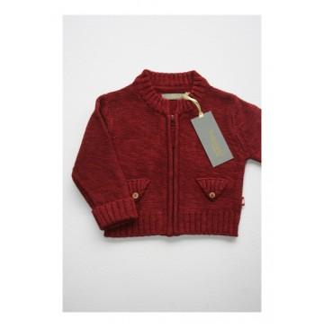 Baby boys cardigan burgundy (4 pcs)