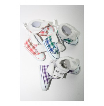 Baby sneaker with furr 3 colors (6 pair)