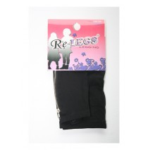 Girls long legging with zipper black (2 pcs)