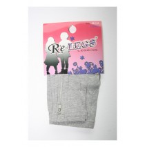 Girls long legging with zipper grey melange (3 pcs)