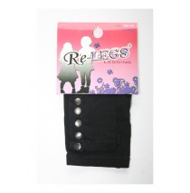 Girls long legging with buttons black (2 pcs)