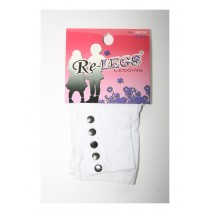 Girls long legging with buttons optical white (2 pcs)