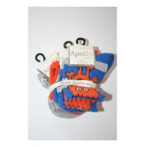 Babyboy Socks Little Monster orange-blue (5 pair of 3 pcs)