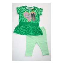 Eden baby girls set shirt + legging jelly bean (4 pcs)