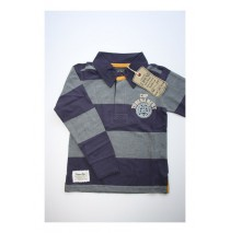 Aristocrate poloshirt with stripes gray melange (4 pcs)