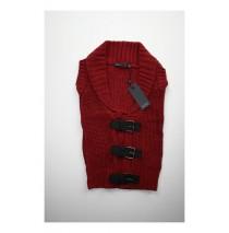 Slow nature sleeveless cardigan warm red (4 pcs)