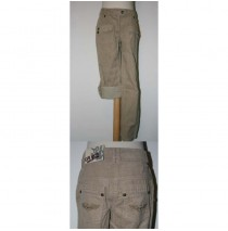 Girl Pilot pant with roll up lt taupe (5 st)