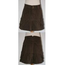 Taboos striped skirt dark brown (5 pcs)